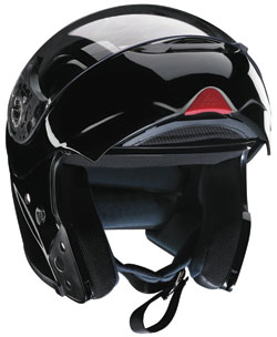 Z1R Eclipse Modular Snow Helmet regulates temperature via adjustable ports on the chin and forehead and exhaust in the rear. (Courtesy of Z1R Helmets)